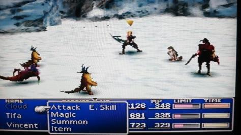 FFVII Battle screenshot